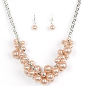 Champagne Necklace and Earring Set Jewelry